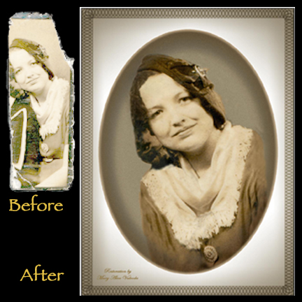 Retouched Old Photograph of Woman